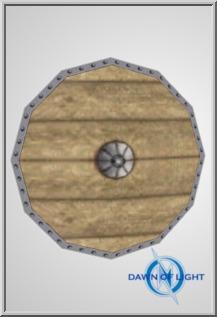 Round wooden shield (ID: 59)
